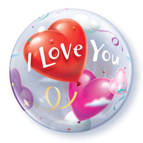 "22"" I LOVE YOU BUBBLE BALLOON"