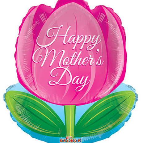 """Image 1    18"""" HAPPY MOTHER'S DAY TULIP BALLOON"""