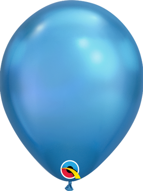 """11"""" QUALATEX CHROME BLUE LATEX BALLOONS"""