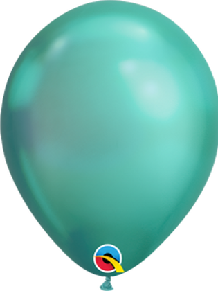 "11"" QUALATEX CHROME GREEN LATEX BALLOONS"