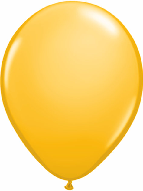 "11"" Qualatex Latex Balloons Goldenrod"