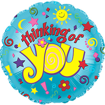 "18"" THINKING OF YOU SUN & STARS BALLOON"