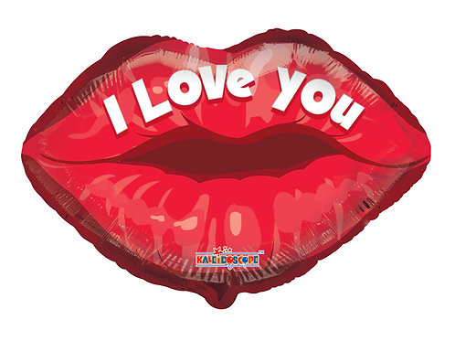 "18"" I LOVE YOU LIP SHAPE HELIUM FOIL BALLOON"