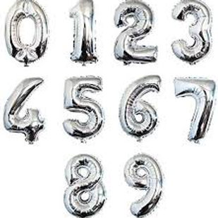 34'' Silver Foil Numbers