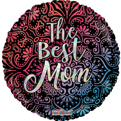 "18"" THE BEST MOM HOLOGRAPHIC HELIUM FOI"
