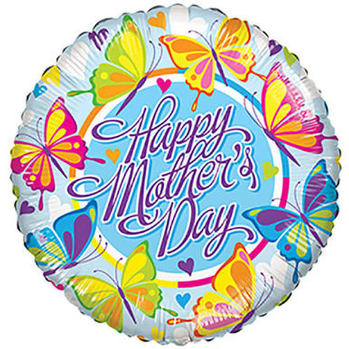 "18"" MOTHER'S DAY LOTS OF BUTTERFLIES HELIUM FOIL BALLOON"