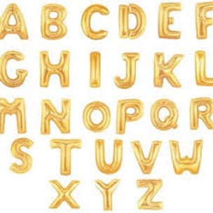 34'' Gold Helium Foil Letters