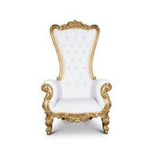 Gold & White Thrown Chair Rental