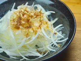 Japanese Onion Salad with Bonito Flakes