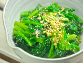 Honey and Sesame Spinach
