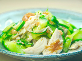 Chicken Breast and Cucumber with Dried Plums (Umeboshi)