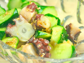 Cucumber and Octopus Salad with Garlic Soysauce