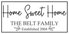 home sweet home personalized