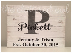 large letter {personalized}