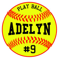 personalized softball