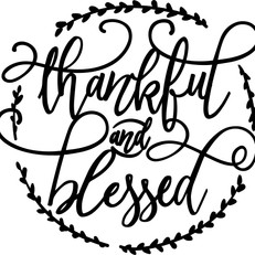thankful and blessed