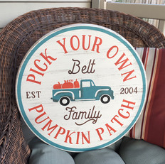 Personalized pumpkin truck