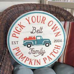 Personalized pumpkin truck