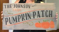 personalized pumpkin patch
