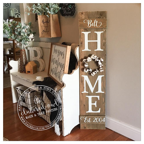ORDER A PERSONALIZED HOME SIGN