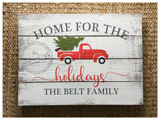 home for the holidays {personalized}