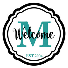 welcome monogram personalized