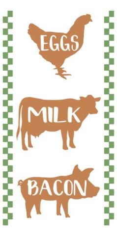 eggs milk bacon