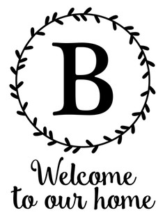 welcome to our home monogram