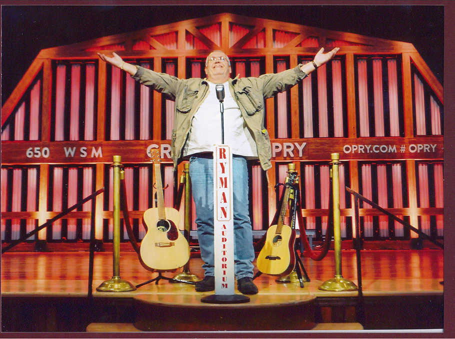 Onstage at the Ryman Theater, Nashville