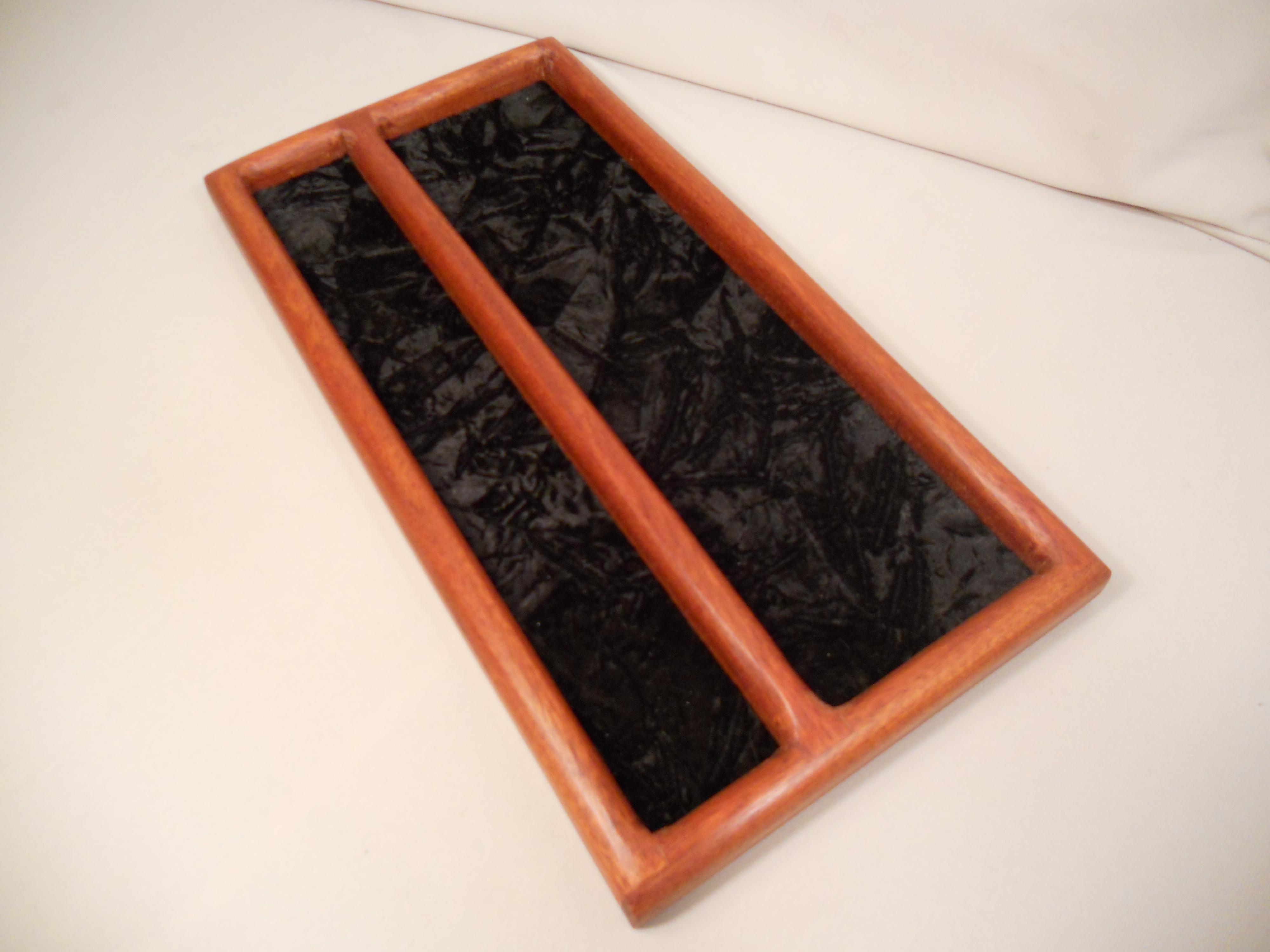 Padauk dresser tray