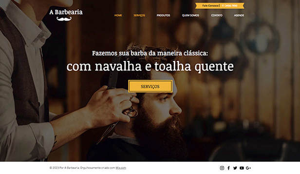 Ver todos os templates website templates – Barbeiro