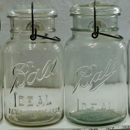 Ball Ideal Fruit Jar w/Vintage Cork Bottle Caps over 100 0f