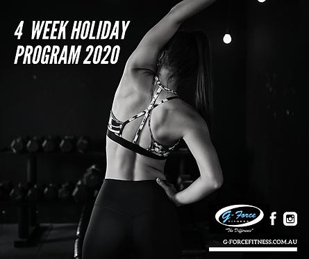 4 Week Holiday Training Program 2020