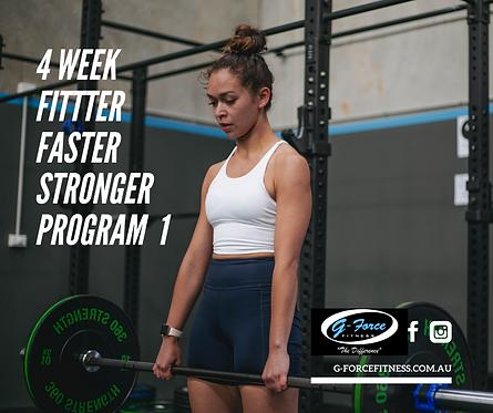 4 Week Fitter Faster Stronger Program 1