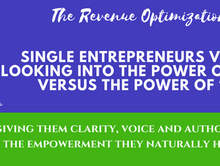 """Single Entrepreneurs versus Teams: Looking into the power of the """"I did it"""" """" versus the power of """"W"""