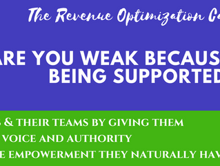 Are you weak because you are being supported?
