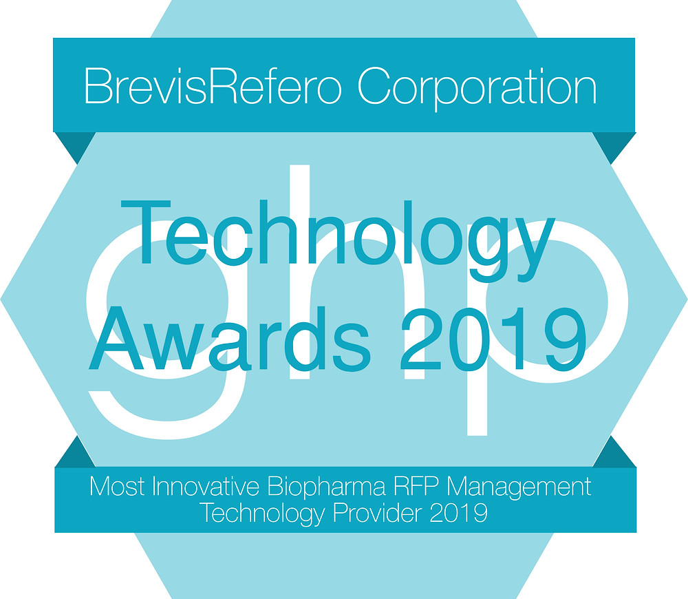 BrevisRefero Award for Most Innovative Biopharma RFP Management Technology 2019