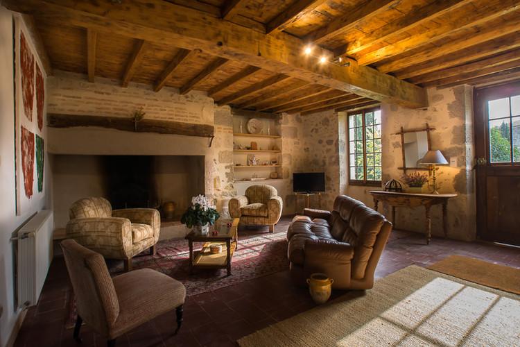 Poudenas - La maison de Simone - Salon
