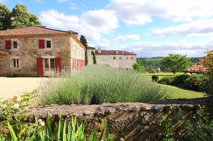 Poudenas - Le Bastion du Prince Noir - Jardin