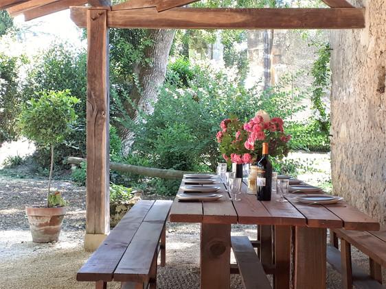 Poudenas - La maison de Simone - La terrasse