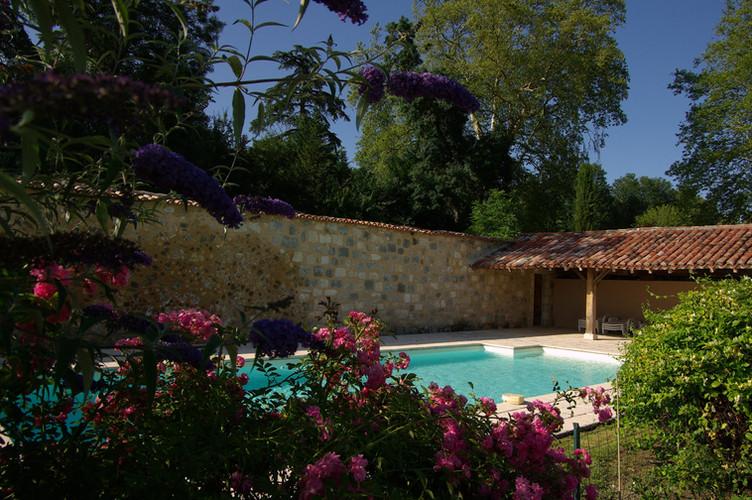 Poudenas - Le Bastion du Prince Noir - Piscine privée