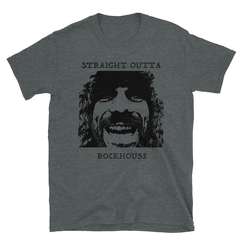 STRAIGHT OUTTA ROCKHOUSE W/100 DAY KING on Back Short-Sleeve Unisex T-Shirt