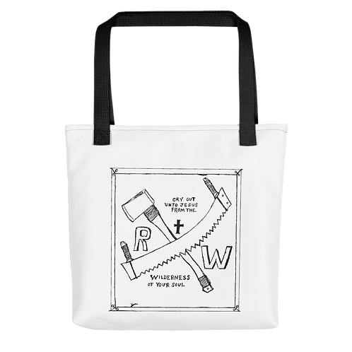 RW Saw and Ax Tote bag