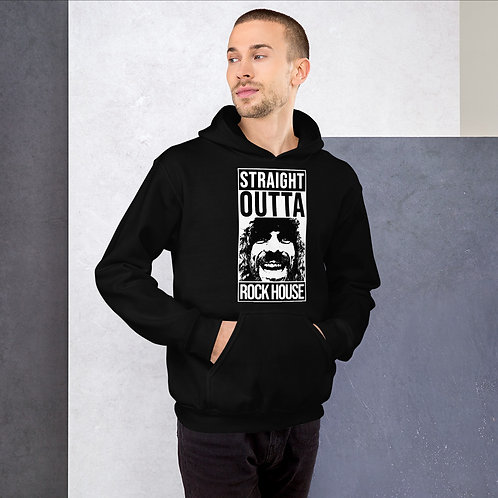 STRAIGHT OUTTA ROCK HOUSE W/ ROCK HOUSE ON BACK Unisex Hoodie