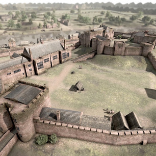 Chester Castle Outer Bailey 18th Century