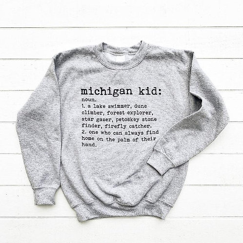 Michigan Kid Sweatshirt by Brush & Timber