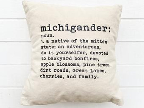 Michigander Pillow by Brush & Timber