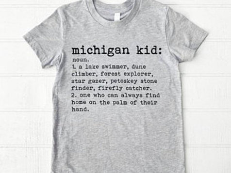 Michigander Kid Tee by Brush & Timber
