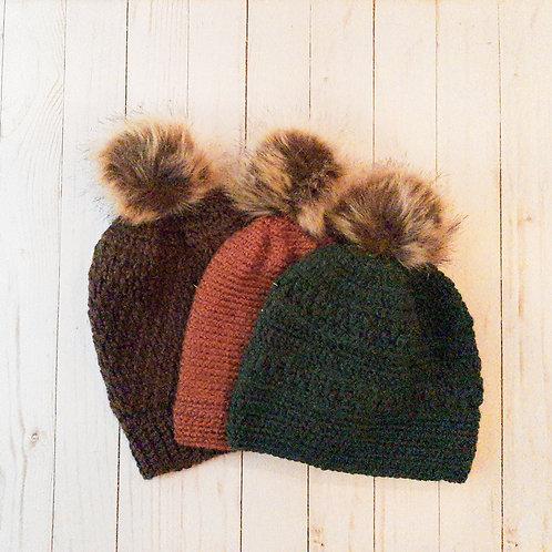 Slouchy Crocheted Beanie by Poppyfields Designs