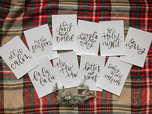 Hand Lettered Cards by Devine Design Co.
